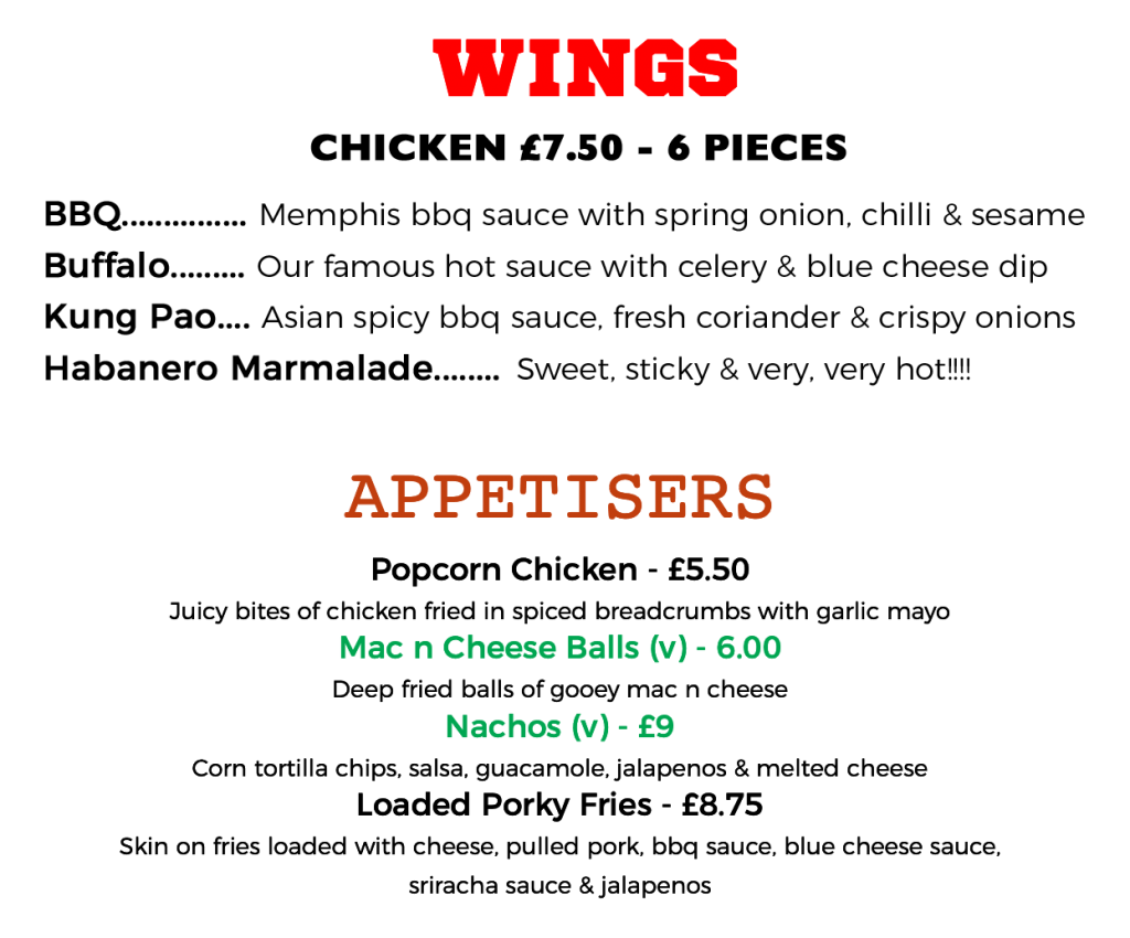 Wings & Appetisers